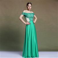 Hot Sale New Styles Floor Length A Line Floor Length Off Shoulder Evening Prom Dresses